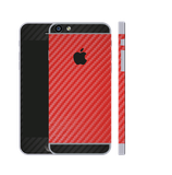 iPhone 6/6s Plus Carbon Folie Schwarz / Rot