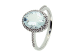 Farbstein  Ring Brillant Aquamarin