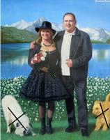 Portrait à l'huile 30*40 cm