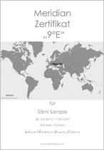 Meridian Zertifikat