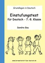 Einstufungstest für Deutsch- 7.-8. Klasse