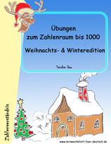 Übungen zum Zahlenraum  1000 - Weihnachts- & Winteredition