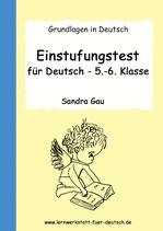 Einstufungstest für Deutsch - 5.-6. Klasse