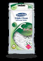 #1641 DenTek® Triple Clean – floss picks, menthe, 6 paquet à 30 pcs