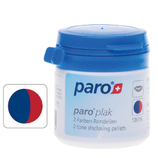 #1202 paro® plak – 2-Farben-Rondellen, rot/ blau,  1 Dose à 100 Stk.