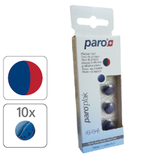#1210 paro® plak – 2-Farben-Tabletten, rot/ blau,  12 Blister à 10 Stk.