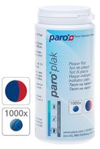 #1208 paro® plak – 2-Farben-Tabletten, rot/ blau,  1 Dose à 1000 Stk.