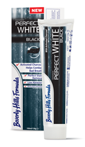 #26806 Beverly Hills Formula® PerfectWhite Black –  Dentifrice, 500 ppm AminF,  10 tubes à 100 ml