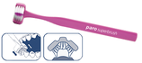 #724 paro®superbrush – brosse à dents à 3 têtes, 12 blister à 1 pcs.