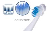 #728 paro® sensi-clean – Ersatzbürsten für paro® sonic Art. 727, 1 Blister à 2 Stk.
