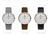 QUDO - Armbanduhr Eterno silber, weißes Ziffernblatt