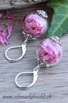 Ohrhängerli mit Blüten pink