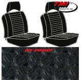 housses de sièges avant séparés pour T2 74->76 en Basketweave Noir (#01)