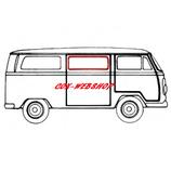 joint de vitre latérale centrale ou arrière gauche ou droite 68-> (sans déflecteur)
