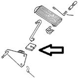 feutrine de pédale de frein ou d'embrayage <-79