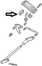 butée de pédale de frein ou d'embrayage <-79