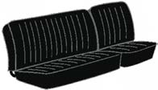 housses de banquette du milieu avec basculement pour T2 68->73 en Basketweave Noir (#01)