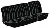 housses de banquette du milieu avec basculement pour T2 74->76 en Basketweave Noir (#01)