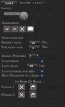 Visualisierung zum Script smarte Torsteuerung für ioBroker