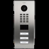 DoorBird D2103V IP Video Türstation inkl. Unterputzgehäuse, 3 Ruftasten