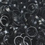 Rainbow Loom® AlphaLoom Bänder Schwarz / Noir