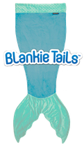 "Blankie Tails Kids Schlafsack /couverture douillette kid ""Aqua"""