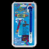 Original Rainbow Loom® Metallnadel Set Blau / Crochet métallique  bleu avec mini-loom