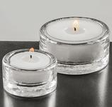 Teelichtglas klein mit Kerze