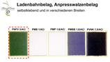 Ladenbahnbelag, Anpresswalzenbelag PNFV24 Grün 3/AC/24mm Selbstklebend