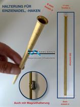 Halterung  für Einziehnadel, Kupferröhrchen  Länge 25cm
