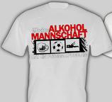 Alkoholmannschaft Shirt weiss