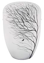1657 b FW Naturstoff, weiß, vom Winde verweht, handbemalt, für Friedwald Naturbestattungen