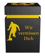 Fussballer-Urne Schwarz-Gelb
