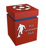Fussballer-Urne rot-weiss z.B. Vereinsfarben Bayern München