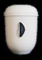 Naturstoff Bio Urne mit Achat Scheibe