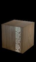 Holzurne Muisto aus dunklem Nuss-Holz, finnisches Design