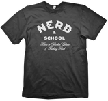 NERD SCHOOL Shirt unisex black
