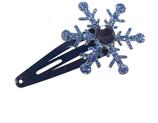 klik klak haarspeldje met ijsster kleur blauw
