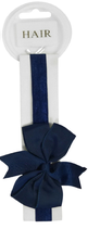 haarband met strik kleur blauw
