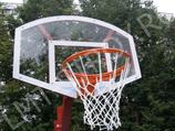 Баскетбольный щит полукруглый 120х90 см оргстекло 10 мм на металлической раме