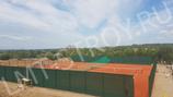 Против ветровой теннисный фон производство ЛМТ-строй 3х18