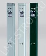Столбы для теннисной сетки, квадратные зеленые