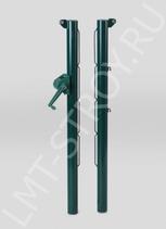 Столбы для теннисной сетки, круглые зеленые (без стаканов)