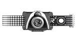 SEO 7R Stirnlampe - max. 220 Lumen (schwarz)