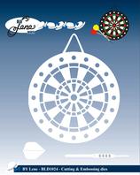 """Stanzschablone """"Dartboard & Arrows"""" - By Lene"""