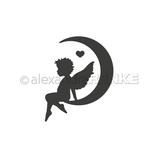"Stanzschablone ""Engel im Mond rechts"" - Alexandra Renke"