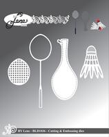 "Stanzschablone ""Badminton"" - By Lene"