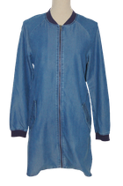 8 MM jeans jurkje, 8MM jurk, denim tuniekje, blauw, Mt. S