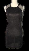 SUPERTRASH lurex DAKOTA jurkje, zwart, Mt. M