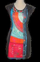 DESIGUAL jurkje, jurk, grijs - multicolor, Mt. XS